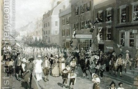Carnival, Philadelphia, 1778 by Howard Pyle - Reproduction Oil Painting