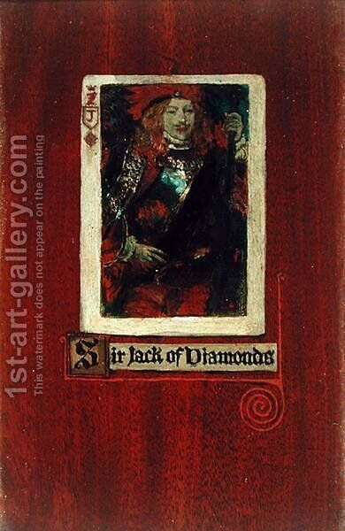 Sir Jack of Diamonds by Howard Pyle - Reproduction Oil Painting