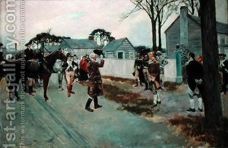 The Meeting of Greene and Gates at Charlotte, N.C., from The Story of the Revolution by Henry Cabot Lodge 1850-1924 by Howard Pyle - Reproduction Oil Painting