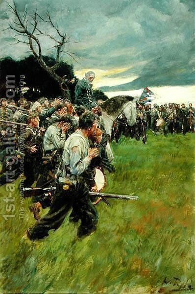 His Army Broke Up and Followed Him Weeping and Sobbing, from General Lee as I Knew Him by A.R.H. Ranson, published in Harpers Monthly Magazine, February 1911 by Howard Pyle - Reproduction Oil Painting