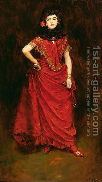 The Dancer, from Lola by Perceval Gibbon 1879-1926, published in Harpers Monthly Magazine, January 1909 by Howard Pyle - Reproduction Oil Painting