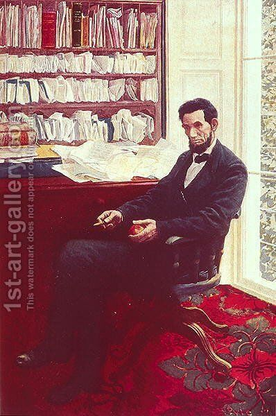 Portrait of Abraham Lincoln 2 by Howard Pyle - Reproduction Oil Painting