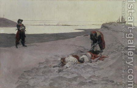 Dead men tell no tales, 1899 by Howard Pyle - Reproduction Oil Painting