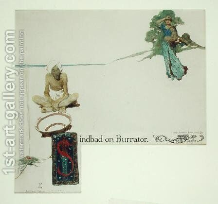 Frontispiece for Sinbad on Burrator by Arthur Quiller-Couch 1863-1944, 1902 by Howard Pyle - Reproduction Oil Painting