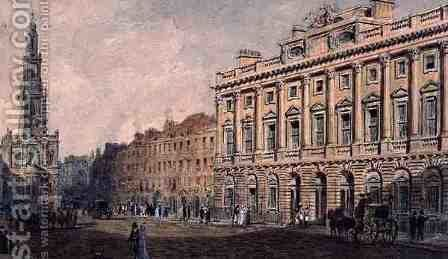 Somerset House by Augustus Charles Pugin - Reproduction Oil Painting