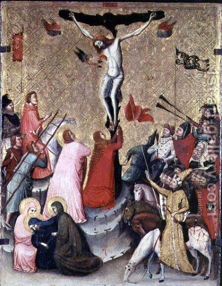 Crucifixion by Jacopino di Francesco Pseudo - Reproduction Oil Painting
