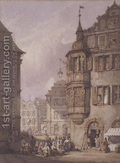 Nuremberg by Samuel Prout - Reproduction Oil Painting