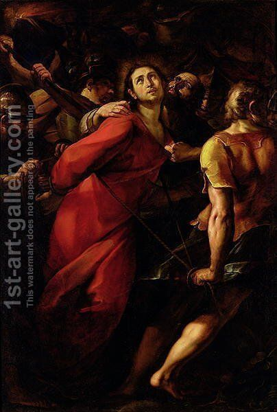 The Betrayal of Christ by Giulio Cesare Procaccini - Reproduction Oil Painting