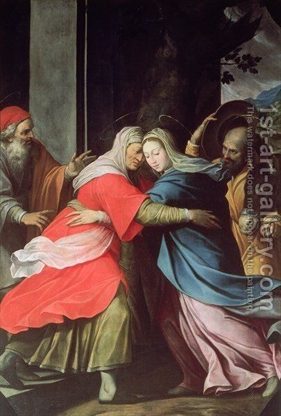 The Visitation by Camillo Procaccini - Reproduction Oil Painting