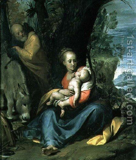 The Rest on the Flight into Egypt by Camillo Procaccini - Reproduction Oil Painting