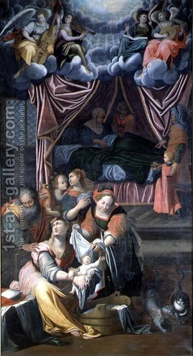 The Birth of the Virgin by Camillo Procaccini - Reproduction Oil Painting