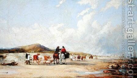 Crossing the Sands to Swansea Market by Edward Pritchard - Reproduction Oil Painting
