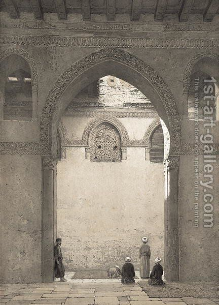 Mosquee DAhmed-Ibn-Toulon, engraved by Philippe Benoist 1813-1905 1877 by Emile Prisse d'Avennes - Reproduction Oil Painting