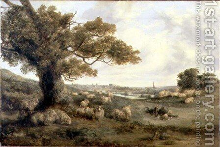 View of Norwich, 1849 by Alfred Priest - Reproduction Oil Painting