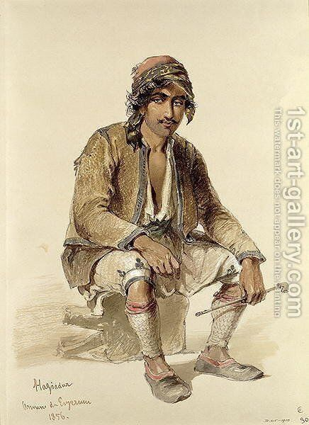 Hagiadur - from Erzerum, 1856 by Amadeo Preziosi - Reproduction Oil Painting