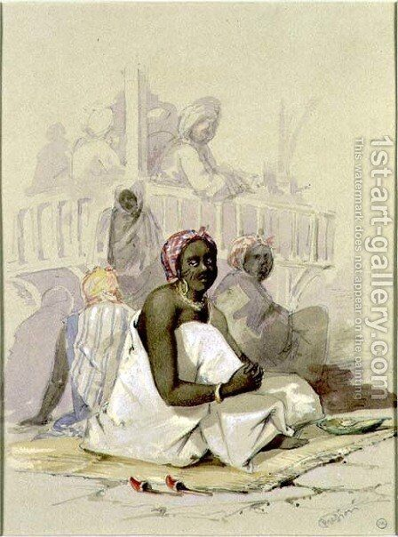 The Slave Market by Amadeo Preziosi - Reproduction Oil Painting