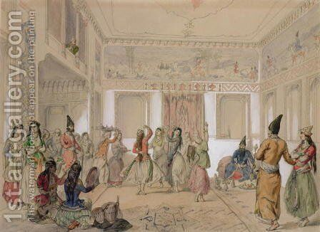 Harem Feast, Tehran by Amadeo Preziosi - Reproduction Oil Painting