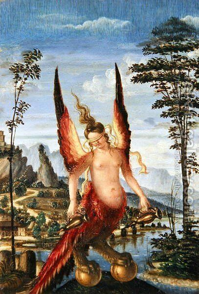 Allegory of Fortune by Andrea Previtali - Reproduction Oil Painting
