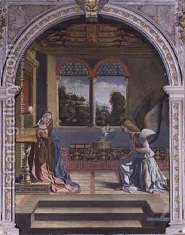 Annunciation by Andrea Previtali - Reproduction Oil Painting
