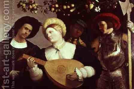 The Lute Player by Andrea Previtali - Reproduction Oil Painting