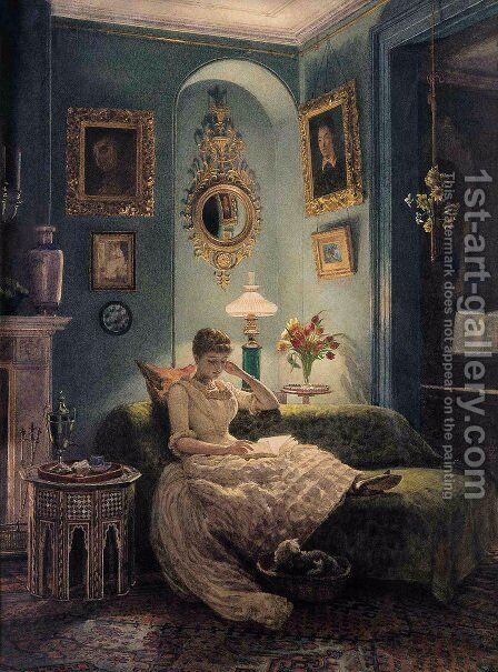 An Evening at Home, 1888 by Sir Edward John Poynter - Reproduction Oil Painting