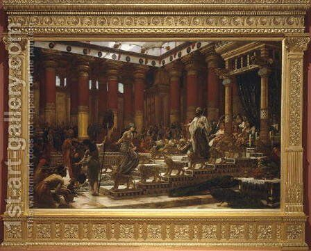 The Visit of the Queen of Sheba to King Solomon, 1890 by Sir Edward John Poynter - Reproduction Oil Painting