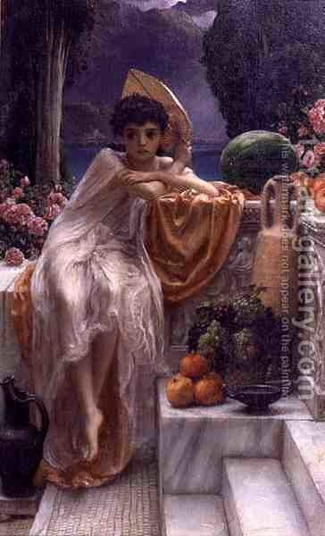 On the Temple Steps, 1890 by Sir Edward John Poynter - Reproduction Oil Painting