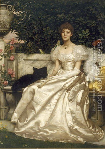 The Hon. Violet Monckton, 1899 by Sir Edward John Poynter - Reproduction Oil Painting