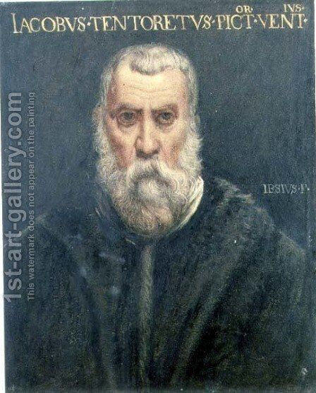 Portrait of Jacopo Tintoretto after Tintoretto by Sir Edward John Poynter - Reproduction Oil Painting