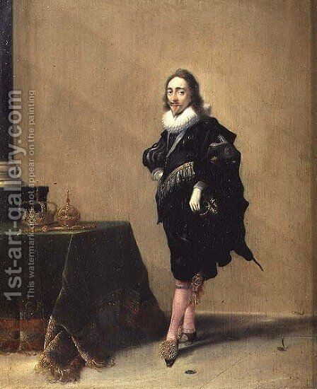 Portrait of Charles I 1600-49 1632 by Hendrick Gerritsz Pot - Reproduction Oil Painting