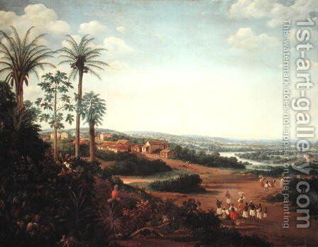 The Village of Serinhaem, Brazil by Frans Jansz. Post - Reproduction Oil Painting