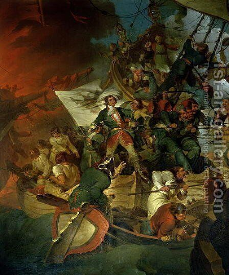 Capture of Azov, 18th May 1696 by Sir Robert Kerr Porter - Reproduction Oil Painting