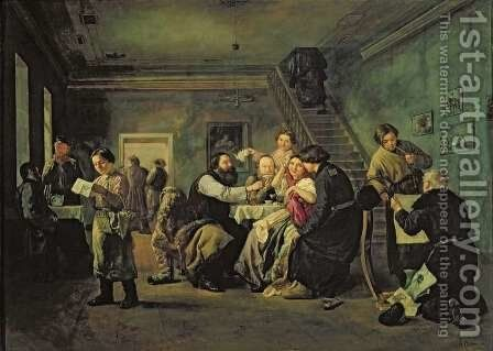 An Eating House, 1859 by Andrei Andreevich Popov - Reproduction Oil Painting