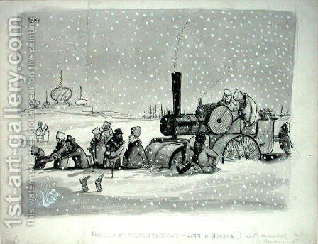 Popular Misconceptions Life in Russia, illustration from Punch, published 27th December 1939 by Graham Laidler Pont - Reproduction Oil Painting