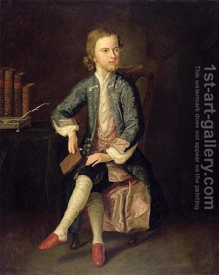 Portrait of Thomas Gray 1716-71 c.1731 by Arthur Pond - Reproduction Oil Painting
