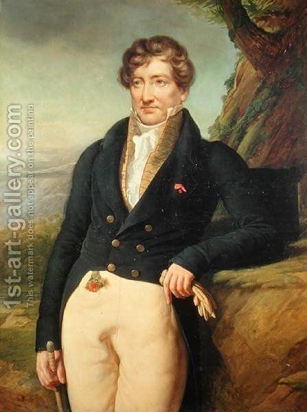 Portrait of the French Zoologist and Paleontologist, Georges Cuvier 1769-1832 by Marie Nicolas Ponce-Camus - Reproduction Oil Painting