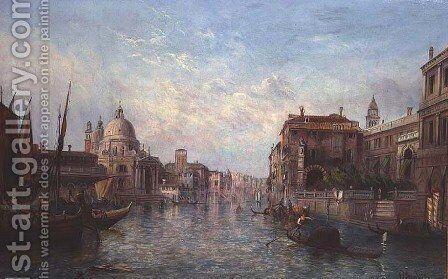 View of the Grand Canal, Venice by Alfred Pollentine - Reproduction Oil Painting