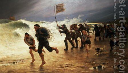 The Rescue by Maurice Poirson - Reproduction Oil Painting