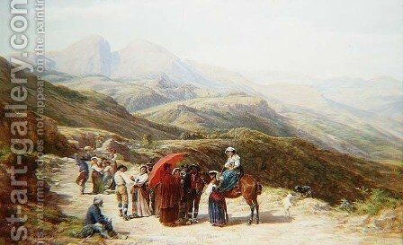 Taking home the bride by Charles H. Poingdestre - Reproduction Oil Painting
