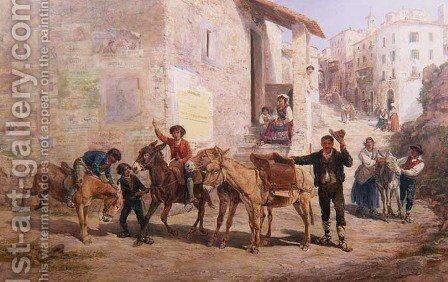 A Continental Express, 1887 by Charles H. Poingdestre - Reproduction Oil Painting