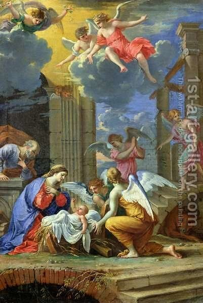 Nativity, 1667 by Charles Poerson - Reproduction Oil Painting
