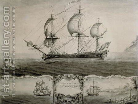 Views of the Blandford Frigate on the Passage to the West Indies and Trading on the Coast of Africa, c.1760 by Nicholas Pocock - Reproduction Oil Painting