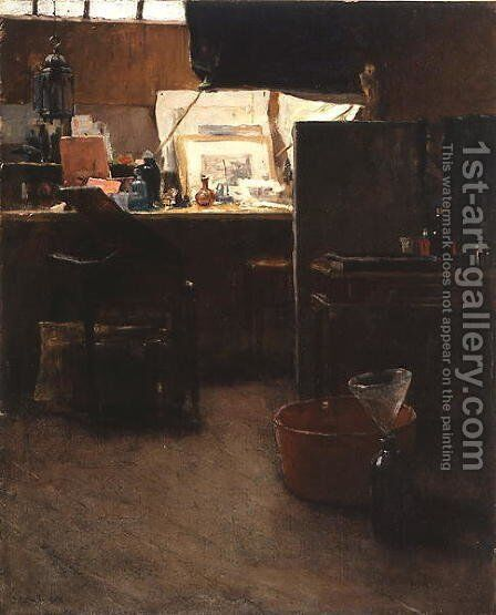A Corner in an Etchers Studio, 1888 by Charles Adams Platt - Reproduction Oil Painting