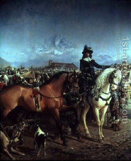 Festival of Saluzzo in the 17th century by Carlo Pittara - Reproduction Oil Painting
