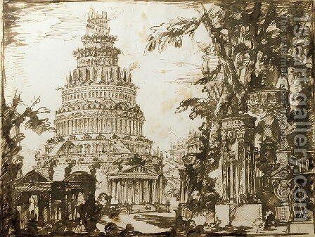 Neo-classical Structures by Giovanni Battista Piranesi - Reproduction Oil Painting