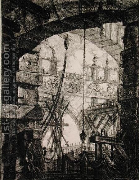 Carceri IV, 1760 by Giovanni Battista Piranesi - Reproduction Oil Painting