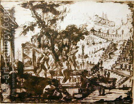 Fantastical Gardens by Giovanni Battista Piranesi - Reproduction Oil Painting