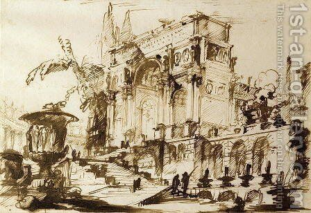 Classical Drawings by Giovanni Battista Piranesi - Reproduction Oil Painting