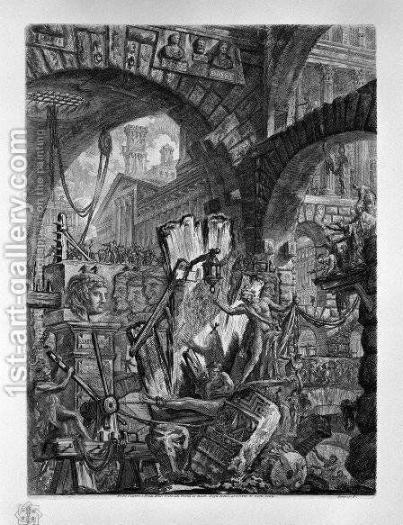 The Man on the Rack, plate II from Carceri dInvenzione, c.1749 by Giovanni Battista Piranesi - Reproduction Oil Painting