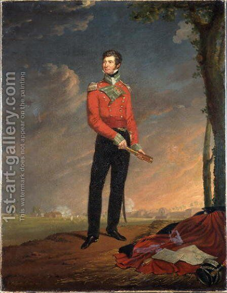 Major Sir Neil Campbell, 1819 by Edouard Pingret - Reproduction Oil Painting